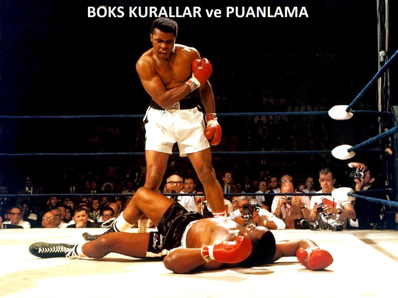 boks kuralları, kurallar, puanlama, boks puanlaması